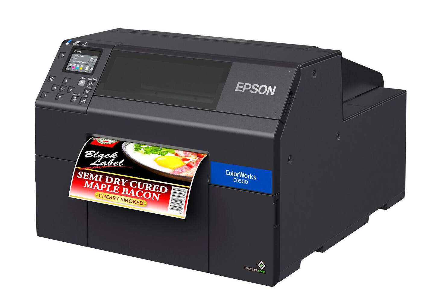 Epson CW-6500A color label printer with auto cutter