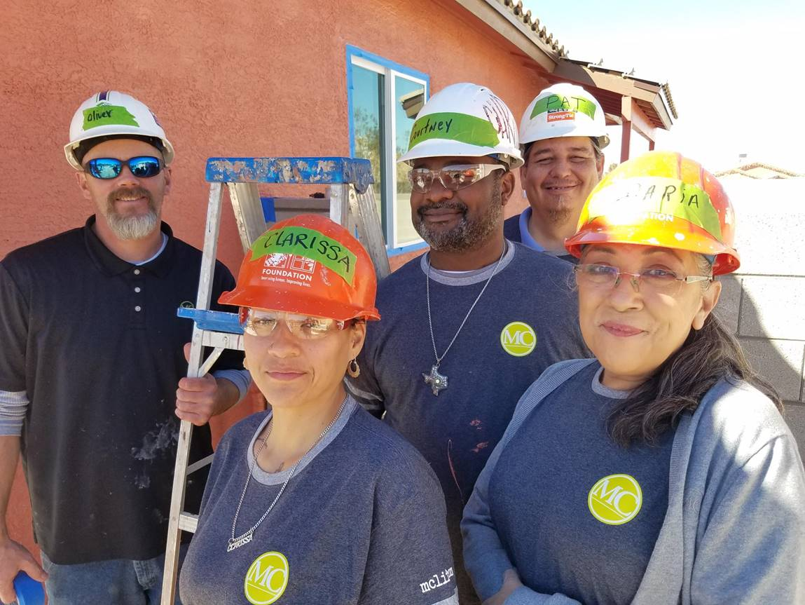 MC Volunteers At Habitat For Humanity In Tucson, AZ